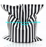 Fabric bean bag cover large - Large size FASHION BIG black and white strip FLOOR CUSHION bean bag bean bag chair bean bag lounger beanbag cover
