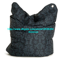 Fabric bag louis - 420D polyester PVC coated GRAY DAMASK CLASSIC FLOWER bean bag THE BULL Large Fashion Bean Bag Chair Louis XIV