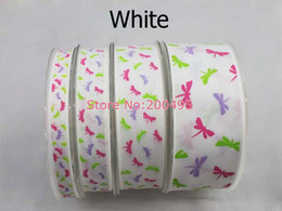 Wholesale 2014 Spring series quot mm Dragonfly Grosgrain ribbon printed ribbon Wedding DIY accessories rds roll