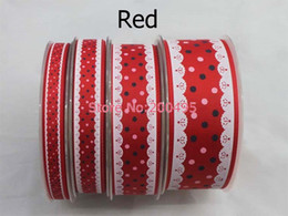 Wholesale 2014 Spring series quot mm Lace Grosgrain ribbon Dot printed ribbon Wedding DIY accessories rds roll