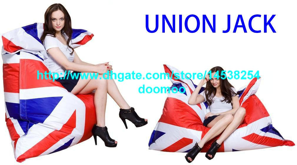 2017 420doxford Pvc Outdoor Union Jack Bean Bag Bean Bag