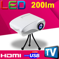 Wholesale Smallest lumens HDMI USB AV SD VGA TV LED Hours LCD Video Pico HD Portable p Micro Mini Projector languages