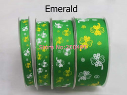 Wholesale 2014 Spring series quot mm Flower ribbon Grosgrain printed Wedding Tape DIY accessories rds roll