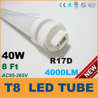 T8 40W SMD 3528 R17D T8 LED Tube Light 40W 8ft 2400mm 2.4m LED fluorescent tube lamp SMD2835 High brightness 4000LM AC85-265V CE RoHS FCC ETL SAA UL 25 lot