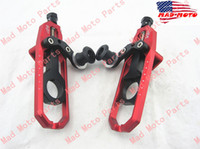 Wholesale MAD MOTO huihuan aluminum motorcycle Chain Adjuster fit for Suzuki GSXR GSX R red black