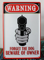 metal decor - TS42 cm x cm Gun Warning Retro Metal Tin Signs Bar Pub Cafe Home Art Decor Metal Signs Metal Painting