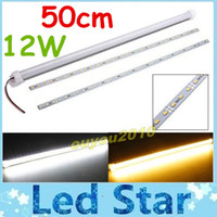 smd strip - Waterproof cm W SMD LED Rigid Strip Lights With Transparent Mikly Cover Led Bar Cabinet Light Warm Cool White V