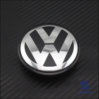 Wholesale 200Pcs VW Volkswagen Logo Classic Black Emblems Wheel Hub Center Cap mm For Magotan Sagitar CC Golf Tiguan B7601171