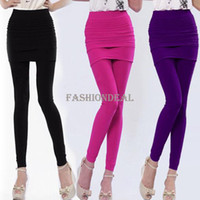Leggings Skinny,Slim Women 3pcs lot 2014 New Women Nylon Full Skirt Footless Stretch Seamless Long Pants Legging pants 8069