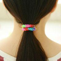 Hairbands Plastic Solid Best Selling Rainbow Loom Kit DIY Wrist Bands rubber band Rainbow Loom Bracelet for kids