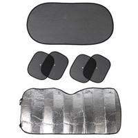 Wholesale 6pcs Black Side Car Sun Shade Rear Head Back Side Window Sunshade Cover Mesh Visor Shield Screen Aluminium Foil Flap