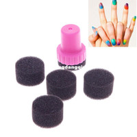 Nail Art Stamping Machine Nail Art Equipment Yes Wholesale-New DIY Nail Art Design Stamping 1 Stamper 4 Changeable Sponge Shade Transfer Kit#56108407