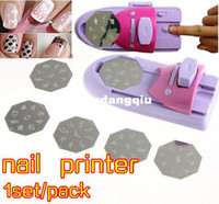 Wholesale Lower Price1set pack DIY Pattern Printing Manicure Machine polish Stamper Tool Set Nail Art Printer Diy Color Acrylic Paint Tips40