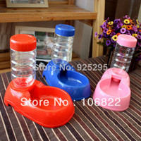 Dogs 15 cm Yes dogs dog shop pet suppliesPet Dog Cat Automatic Dish Bowl Bottle Water Drinking Dispenser Feeder Fountain LX0126 Free shipping&D