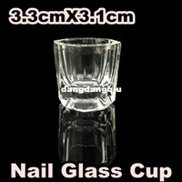 Wholesale BZZ X Glass Crystal Bowl Cup Dappen Dish Arcylic Nail Art 407