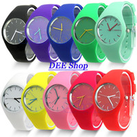 Wholesale Big Wholesaler Fashion Super Soft Geneva Womens Jelly Silicone Sports Watch Students Watch Dropshipping