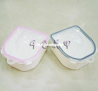 Wholesale Plastic Material Double Nail Art Soak Bowl Nails Accessories Tools Products For Nail Salon Hands Washing