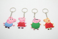 Wholesale New kids Peppa Pig George pig key chain chains