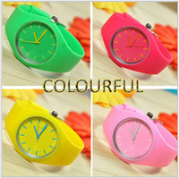 free japanese girl - Hot Sale Newest Girl WATCH Silicone Watch Korean Japanese candy Fresh colors Women Watch