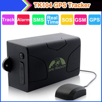 Wholesale TK104 GPS GSM GPRS Vehicle Car Tracker GPS104 Quad Band Big Battery days Standby Waterproof Free PC GPS Track System