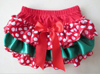 Wholesale Hot Sale Christmas Baby Diaper Cover Ruffle Baby Bloomer