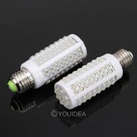 T8 22w SMD 3528 Wholesale - 1pc E27 7W 360 108 LEDs Strips Spot Corn Light Lamp Waterproof Bulb White 220V 80189