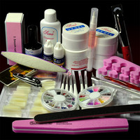 Nail Art Stamping Machine Nail Art Equipment TOOL-AT-078 Wholesale-2014 Brazil Nail Art UV Gel Kits Brush Remover Brush French Tips Glue Cutter File Tools Kits Set407