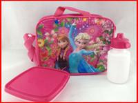 Wholesale 2014 New Frozen Kids Cartoon Lunch bag Children frozen lunch bag pink without bottles amp boxes Color choose melee