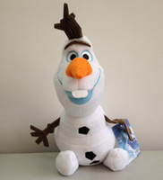 Wholesale Promotion Inches cm Frozen Olaf Plush Toys Cartoon Movie Brinquedos Cotton Stuffed Lovely Dolls Brand New HOT