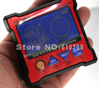 Wholesale DXL360S New Mini Digital Protractor Inclinometer Dual Axis Level measure box Angle ruler Gyroscope function