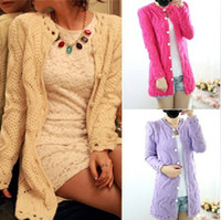 alpaca cardigans - New Spring women s sweet round button lace collar wave hollow cutout cardigan sweater