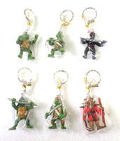 Wholesale Teenage Mutant Ninja Turtles Figure Bag Mobile Phone KeyChain Key Chain Strap Charm