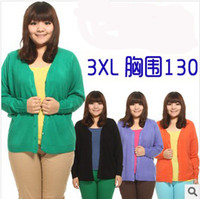 Wholesale sweaters New Spring Knit Big size Women Clothes Tops For Fat And Short Women Large Size XXXL