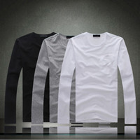 Blank long sleeve cotton round neck short sleeve crew neck T-shirts