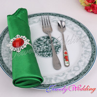 Satin Fabric dinner napkin - pieces Dark Green Emerald Satin Dinner Napkin Handkerchiefs Wedding Party Decor Craft mouth cloth colorful napkin