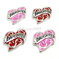 heart charm - 20pcs quot Heart quot floating charms DIY charms for necklace bracelets fashion charms accessories glass Locket charms