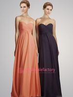 Model Pictures Pleats Sleeveless 2014 Chiffon Beach Bridesmaid Dresses Sweetheart Empire Pleated Ruffles Backless Party Gowns Plus Size Formal Prom Dresses CPS055