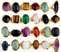 Wholesale 25pcs Turquoise Rings Tibet Silver Plated Rings Fashion Big Stone Rings Top Quality ST15
