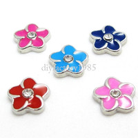 Wholesale 20pcs quot Flower quot floating charms DIY charms for necklace bracelets fashion charms accessories glass Locket charms LSFC035