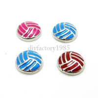 Wholesale 20pcs quot Volleyball quot floating charms DIY charms for necklace bracelets fashion charms accessories glass Locket charms