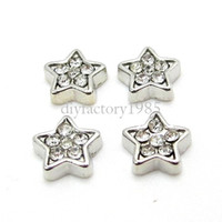 Wholesale 20pcs quot Star quot floating charms DIY charms for necklace bracelets fashion charms accessories glass Locket charms LSFC043