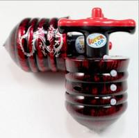 Wholesale DHL Plastic Wood Composite Gyro Colorful Lights add Flash Music Gyro gyro Laser Line bag