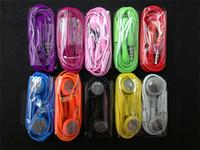 Wholesale Earphone mm Headphone Headset with MIC Color Headset for iphone s s iphone5 iphone4 iphone5s iphone4s Ipod Itouch Colorful