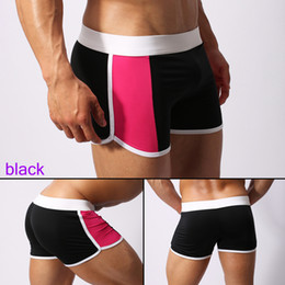 Wholesale mens running jogging breeches gym cycling sports satin cool mma shapers fitness pants shorts men surf male swimwear swimming Swim trunks