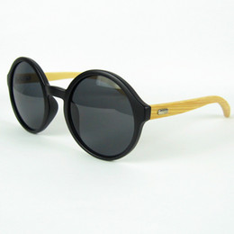 Round Frame Sunglasses Vintage Sun Glasses For Women And Men Eyewear Plastic Frame Bamboo Temples 12pcs lot