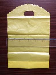 100pcs / lot Largeur 15cm jaunes imprimés Sacs en plastique utiles cadeaux Boutique Hotsale Bijoux de mariage Porte-sacs à provisions Packaing Pouches à partir de impression sac de transport fabricateur