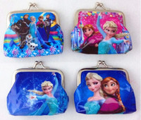 Wholesale New baby girls Frozen Coin Purses kids wallet chilldren s wallet princess Elsa Anna money bag party supplies