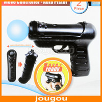 Wholesale 2014 New Gun Pistol Game Controller For Playstation PS3 Move Game Free DHL UPS FEDEX Shipping
