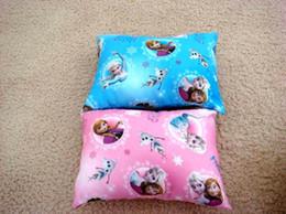 Wholesale Ice Snow Princess desk nap small car back children small pillow mat cartoon elsa anna princess picture pillows GX692