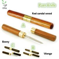 Wholesale 3 kinds of wood insert tea cone specialty tool puer tea knife puer knife tea tools ETD001